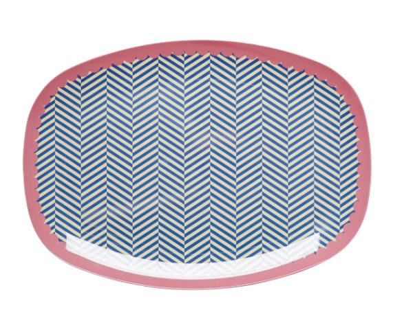 Rice Melamin Teller/Platte, Sailor Stripe Print