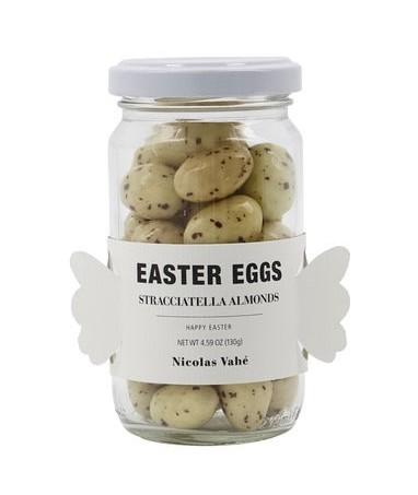 Schokolierte Mandeln EASTER EGGS, Straciatella Almonds