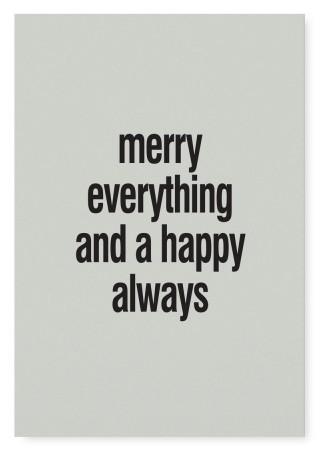 "Tafelgut, Karte ""Merry Everything"""