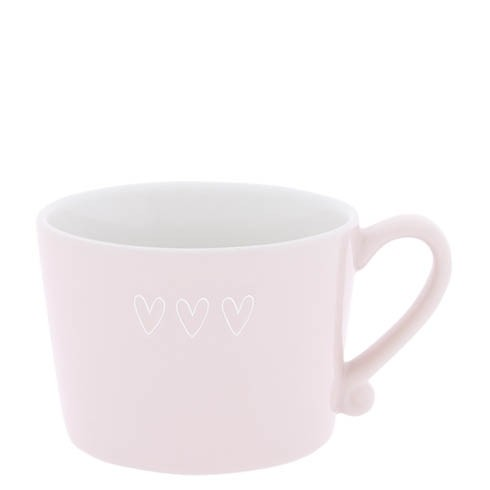 Bastion Collections Cup White / Cup Rose 3 hearts in white