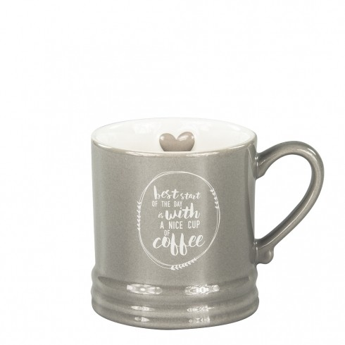 Bastion Collections Tasse / Mug Small Titane, With best start of the day