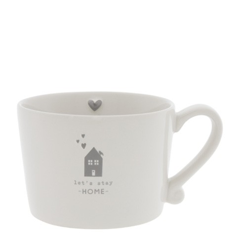 Bastion Collections Cup White / Let's stay at Home, Grey
