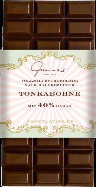 Vollmilch Schokolade, Tonkabohne, 100 g