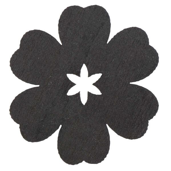 "Ib Laursen Geschenkanhänger ""Holzblume"", schwarz"