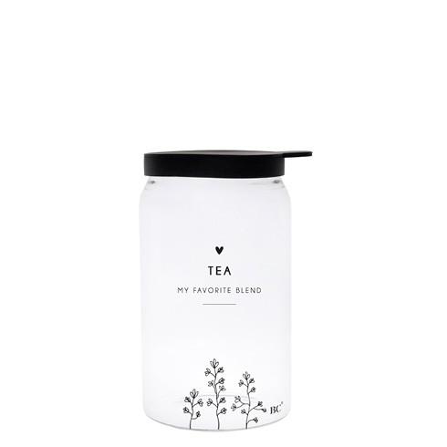 Bastion Collections Vorratsglas Tea (Flowerhearts), klein
