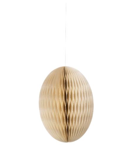 Papier-Osterei Swirl, 20 cm, Pearl