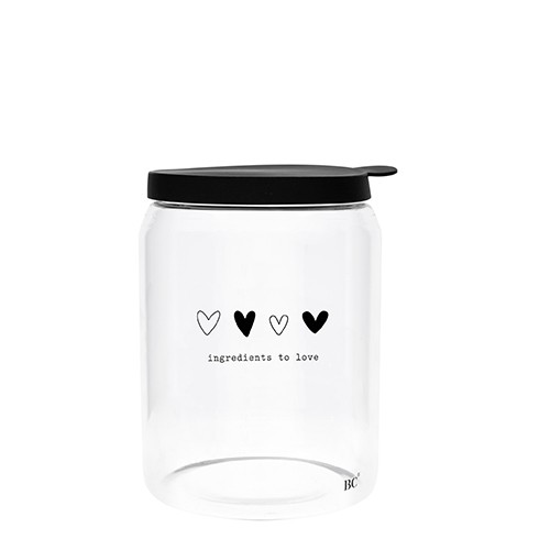 Bastion Collections Vorratsglas Incredients to love, groß