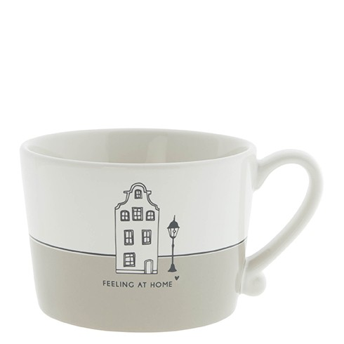 Bastion Collections Cup White / Feeling at Home, titane/black