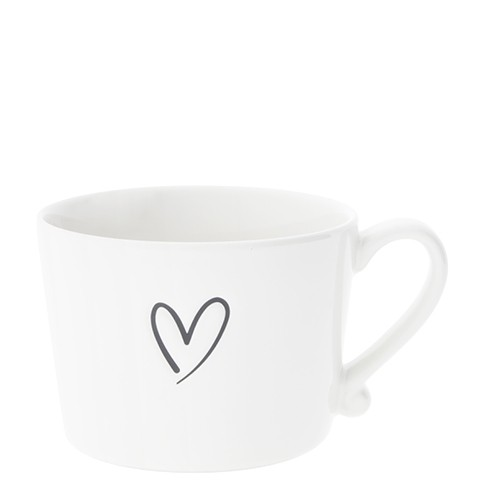 Bastion Collections Cup White / New Heart in Black