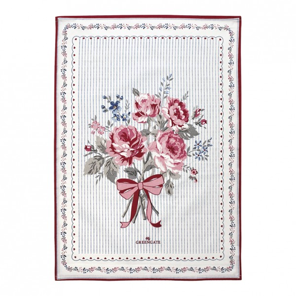 GreenGate Geschirrtuch Elisabeth White pieceprinted