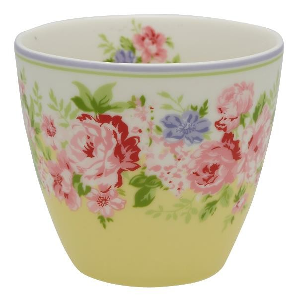 Greengate Latte Cup Rose pale yellow, ltd. Edition