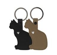 Schlüsselanhänger Katze, Braun