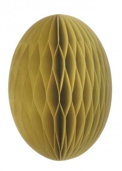Papier-Osterei Swirl, 20 cm, Limelight - Senf