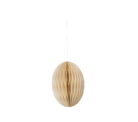 Papier-Osterei Swirl, 12 cm, Pearl