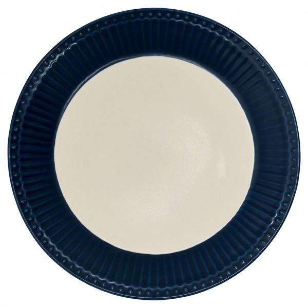 GreenGate Teller / Plate, Alice Dark Blue
