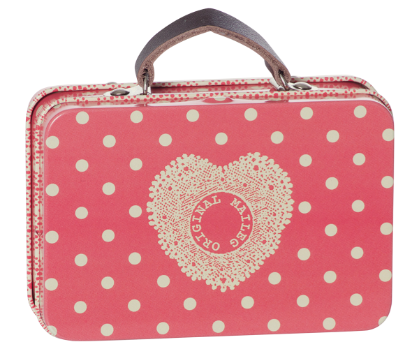 Maileg Suitcase / Metallkoffer Melon Big Dots