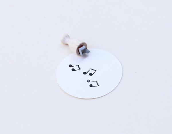 Perlenfischer Stempel Musiknoten, mini