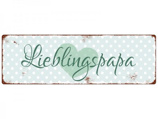 "Metallschild ""Lieblingspapa"""
