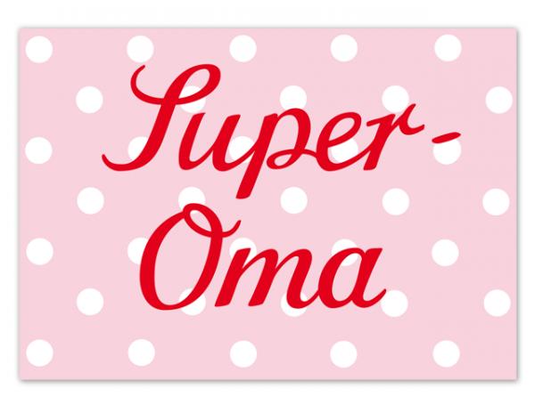 Krima & Isa Postkarte Super Oma