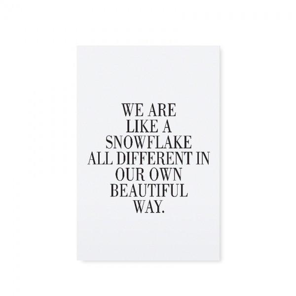 "Tafelgut, Karte ""Snowflake"""