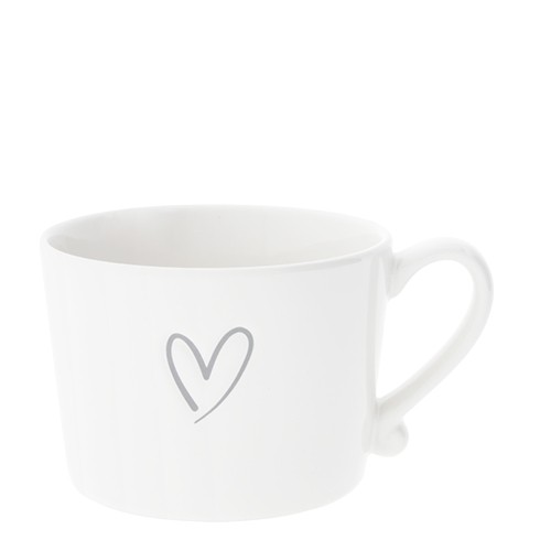 Bastion Collections Cup White / New Heart in Grey