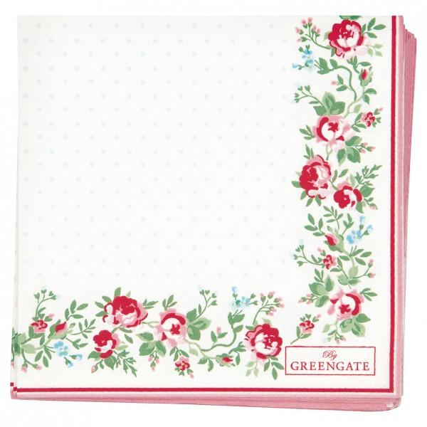GreenGate Kleine Papierserviette Gabby White