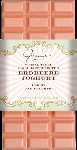 Weiße Schokolade, Erdbeer-Joghurt, 100 g