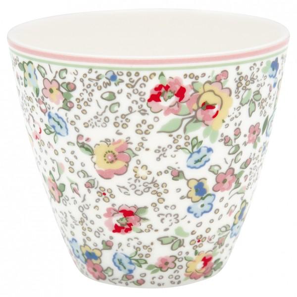 Greengate Latte Cup Vivianne white