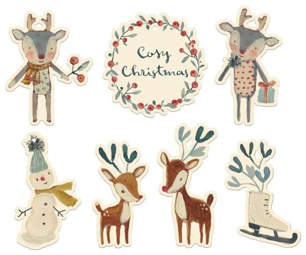 Maileg Geschenkanhänger Cosy Christmas, 14teilig