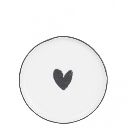 Bastion Collections Teller / Cake Plate Heart in Black