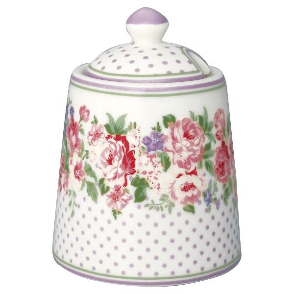 GreenGate Zuckerdose Rose White