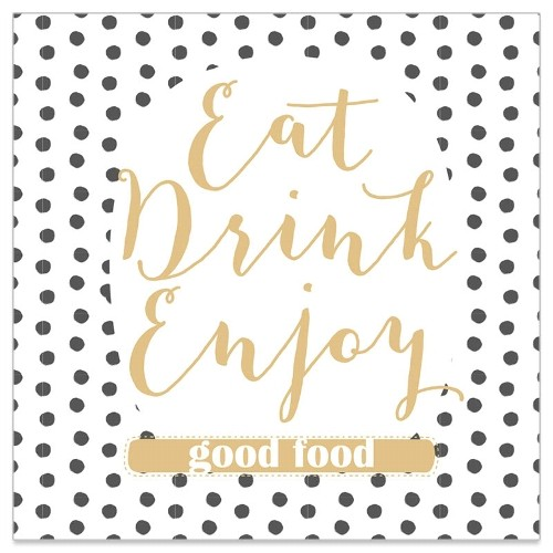 Artebene Papierservietten Eat Drink Enjoy, taupe