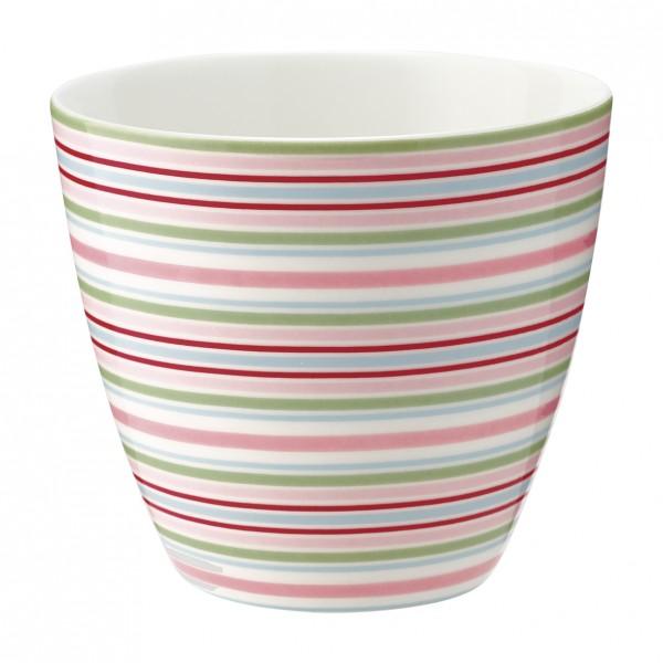 Greengate Latte Cup Silvia Stripe White