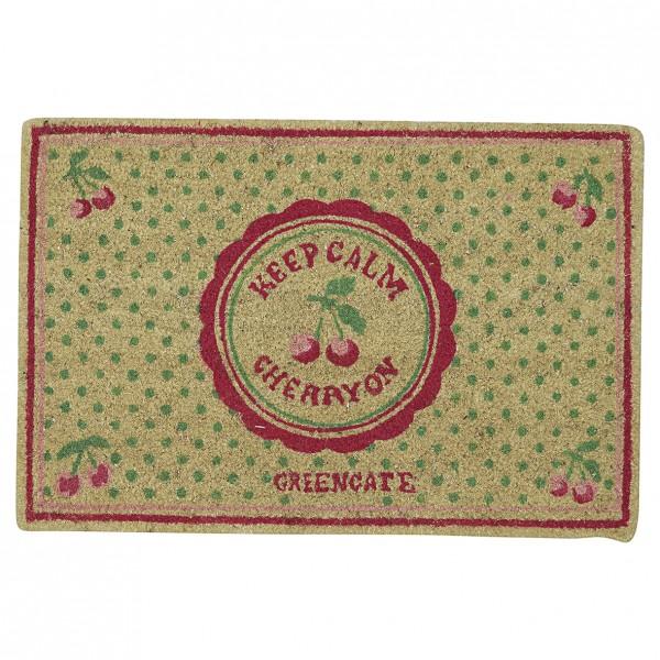 Greengate Fussmatte / Doormat Cherry Berry Pale Green