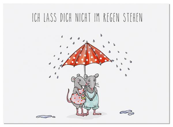 Krima & Isa Postkarte Regenschirm