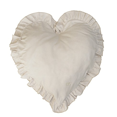Bastion Collections Kissen Heart Natural Chambray