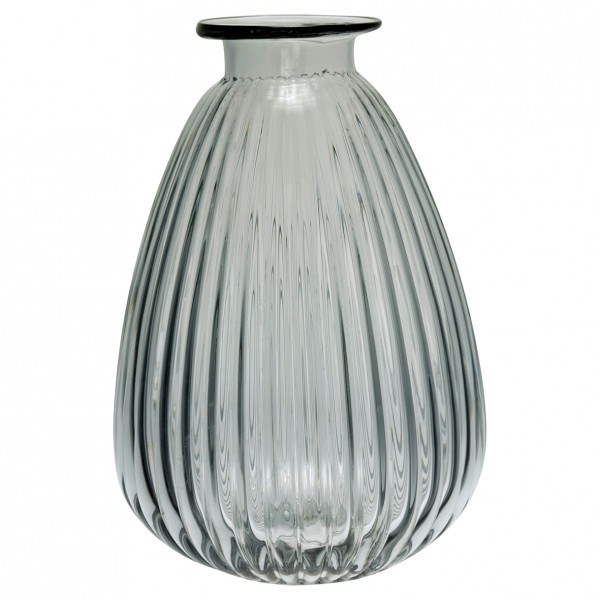 Greengate Vase Grey Balloon Shape, medium