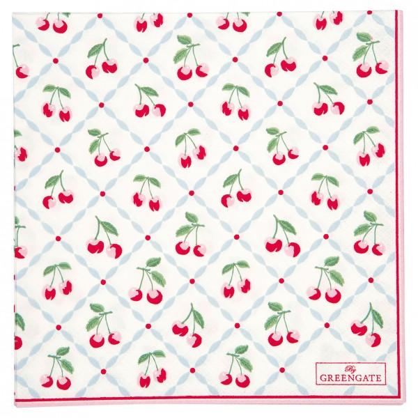 GreenGate Papierserviette Cherie White