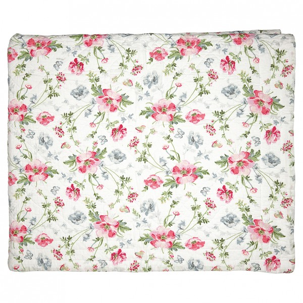 GreenGate Quilt / Bed Cover Meadow White
