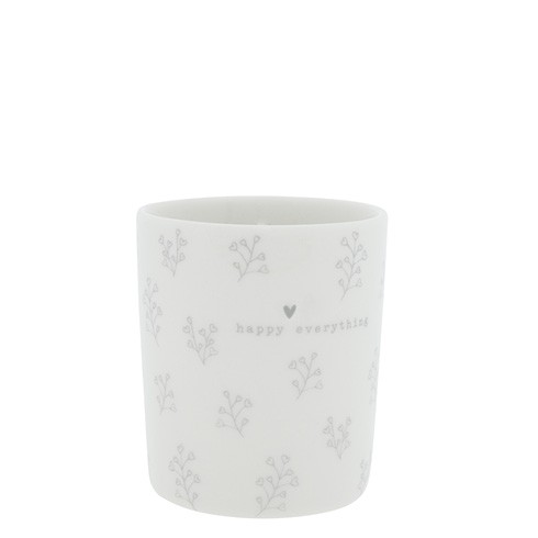 Bastion Collections Becher / Mug Flower Hearts, Grey, SS21