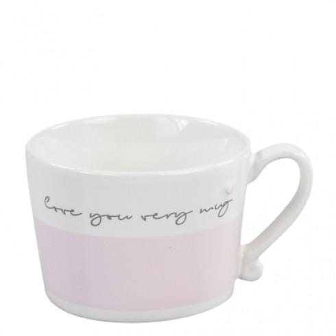 Bastion Collections Mug White/Rose Love you very mug