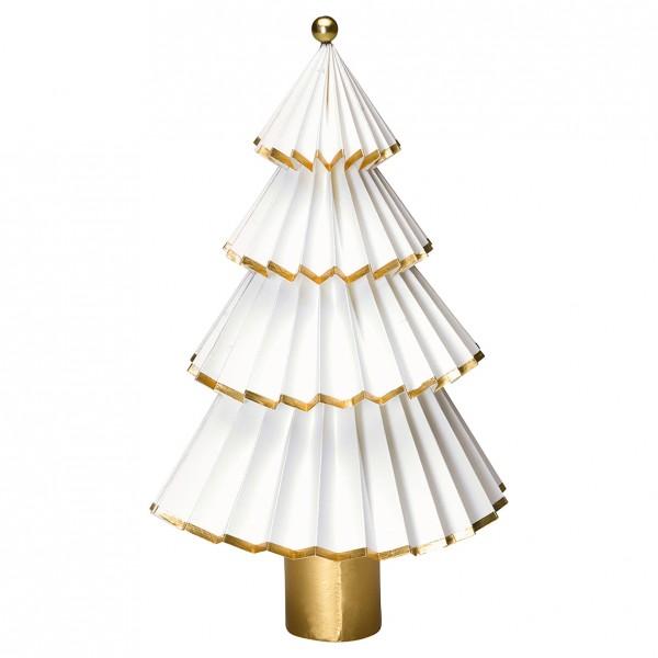 Greengate Weihnachtsbaum Tree Paper Nova white/gold, Mittel