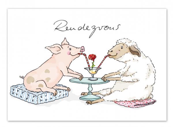 Krima & Isa Postkarte Rendezvous
