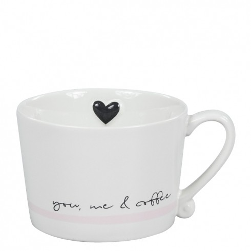 Bastion Collections Mug White/You, me & coffee in black