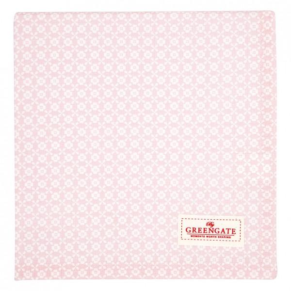 Greengate Tischdecke Helle pale pink, 100x100cm