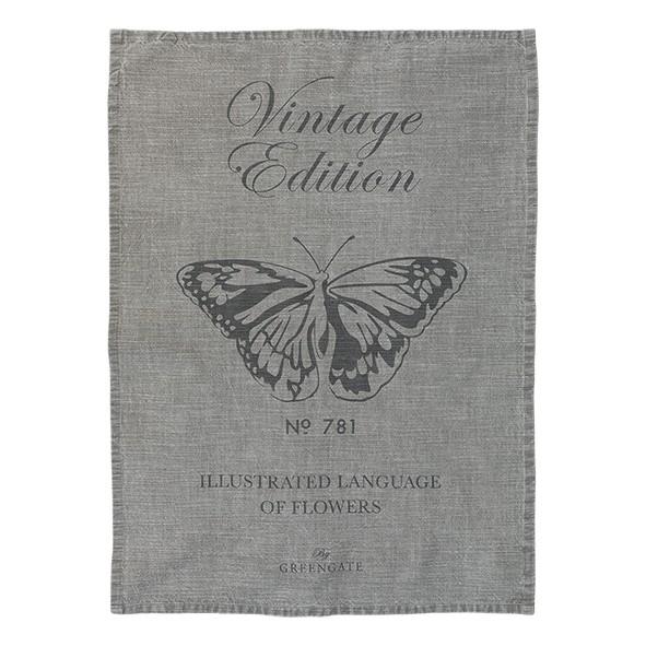 GreenGate Geschirrtuch Butterfly Warm Grey