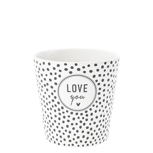 Bastion Collections Becher / Mug Dots & Love you in Black