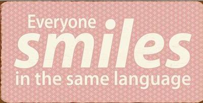 """Magnet, """"Everyone smiles in the same language"""""""