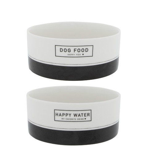 Bastion Collections Napf DOG FOOD & WATER, 2er Set