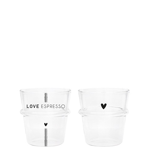Bastion Collections Tumbler / Espresso Love Espresso oder Herz